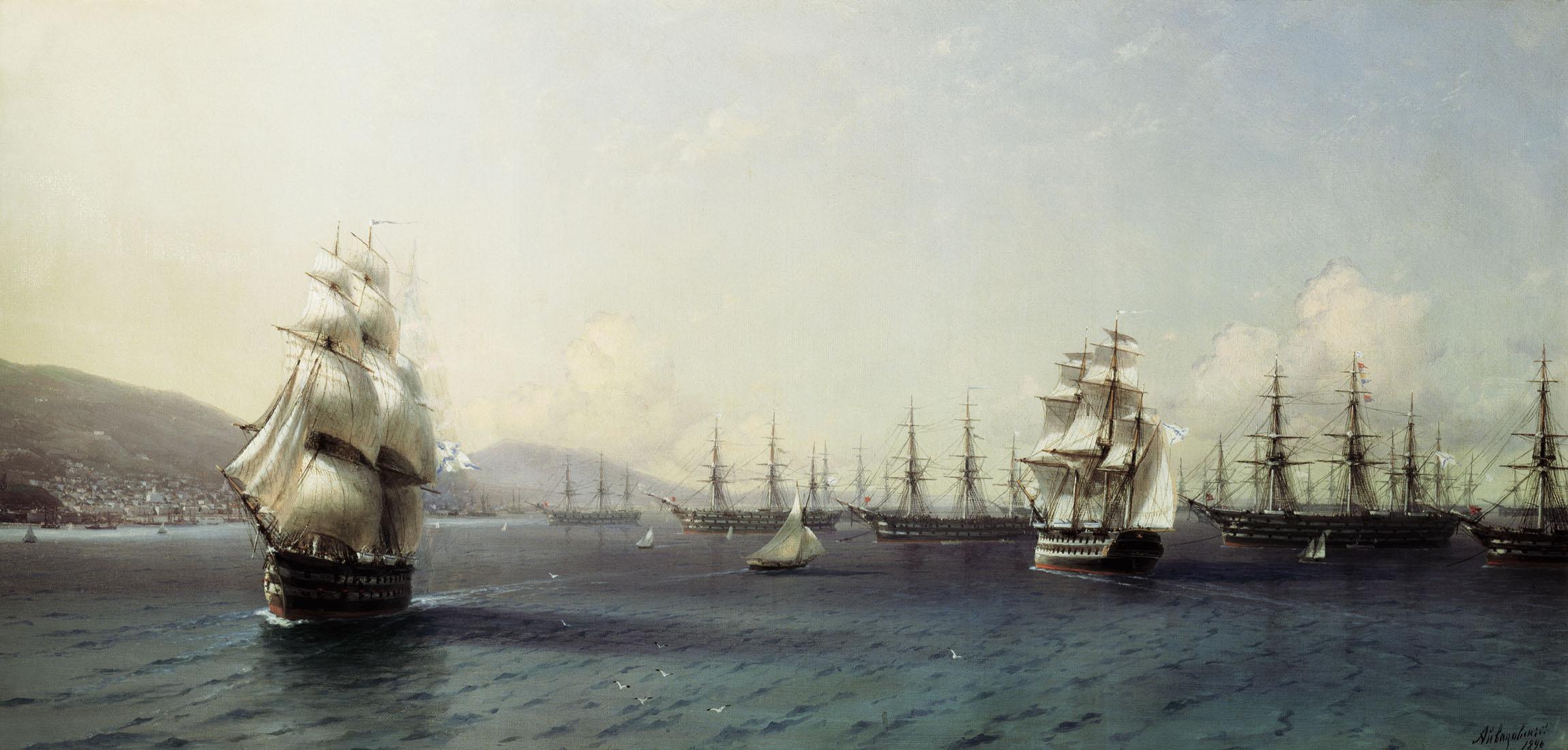 черноморский флот в феодосии 1890