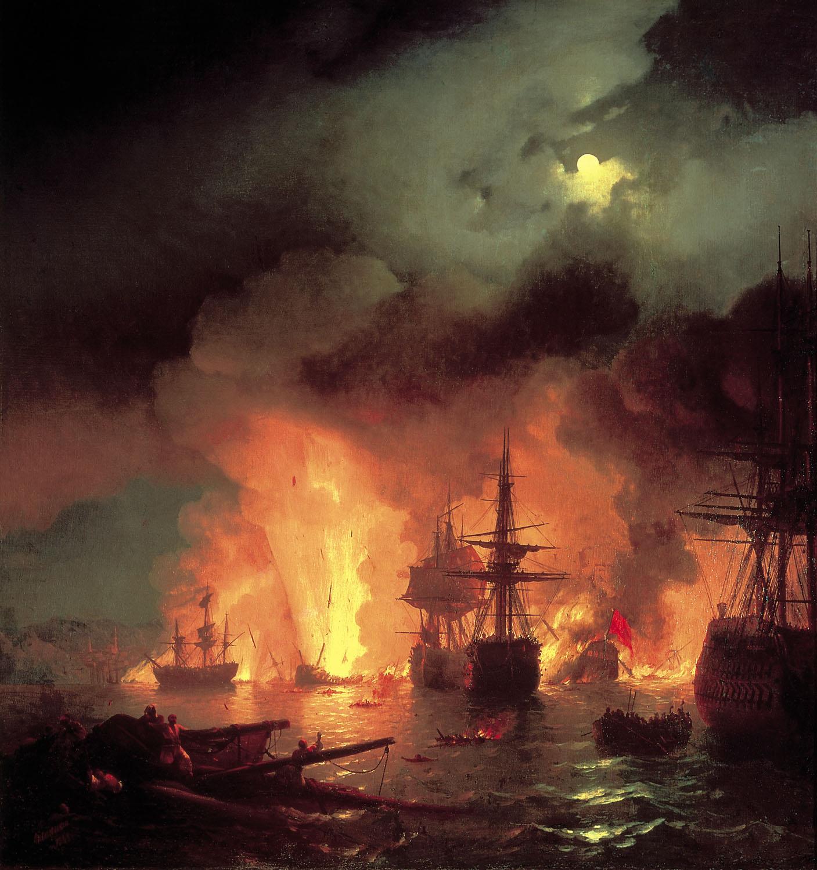 чесменский бой в ночь с 25 на 26 июня 1770 (1848)